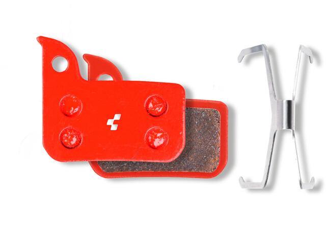 Cube Red22/Force22/Rival22/S700/Level Remblok & Remschoen SRAM gesinterd rood